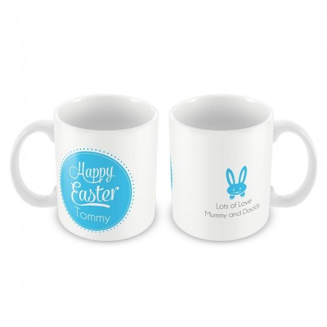 Blue Happy Easter Mug