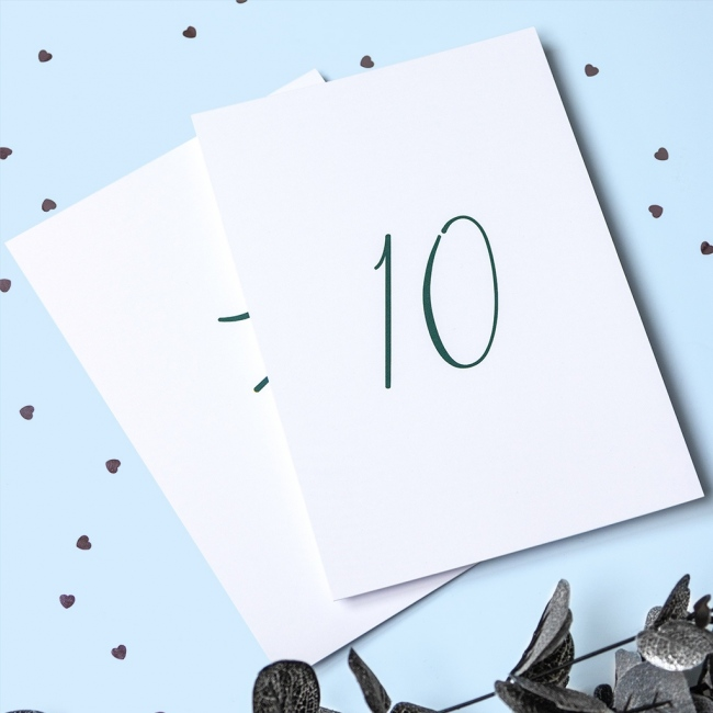 Calligraphy Table Numbers (1-10)