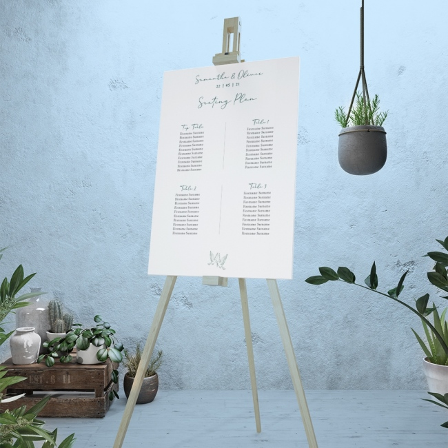 Calligraphy Personalised Wedding Table Plan