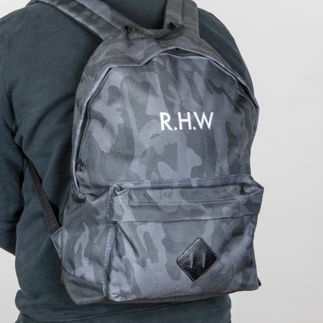 Personalised Embroidered Camo Ruck Sack