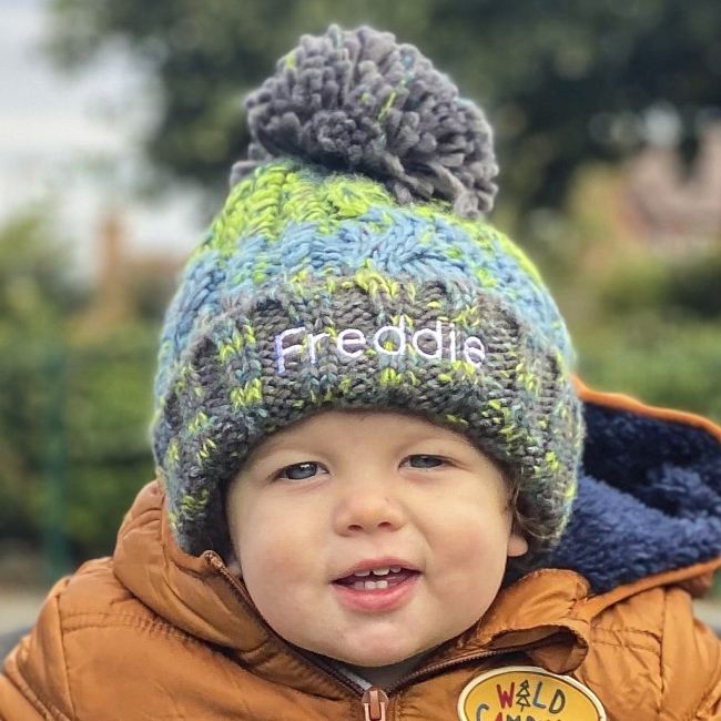 Personalised Winter Child Pom Pom Hat