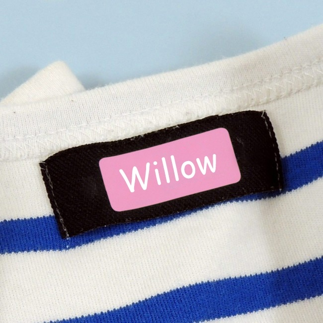 Colour Stick On Name Labels