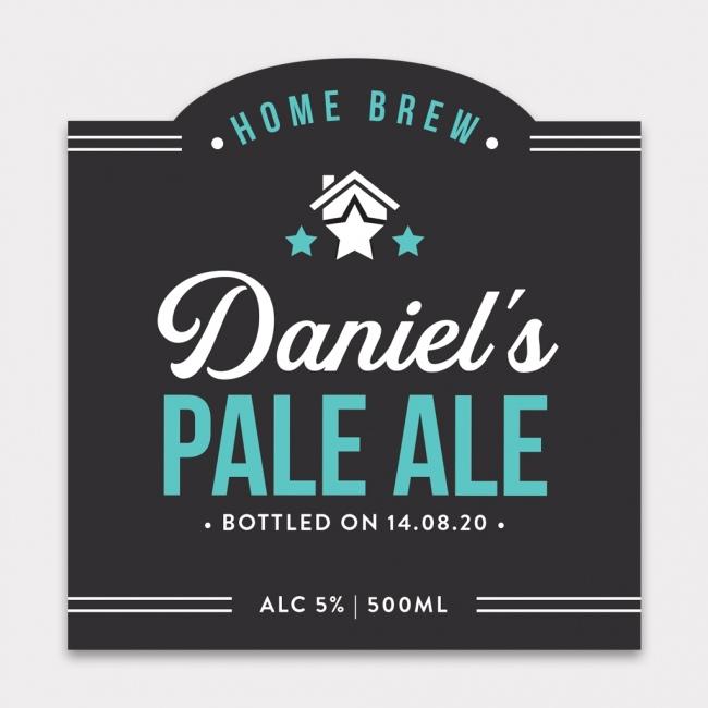 Personalised Beer Label - 4 Pack - Design 2