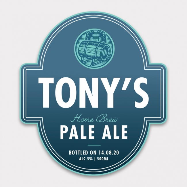 Personalised Beer Label - 4 Pack - Design 3