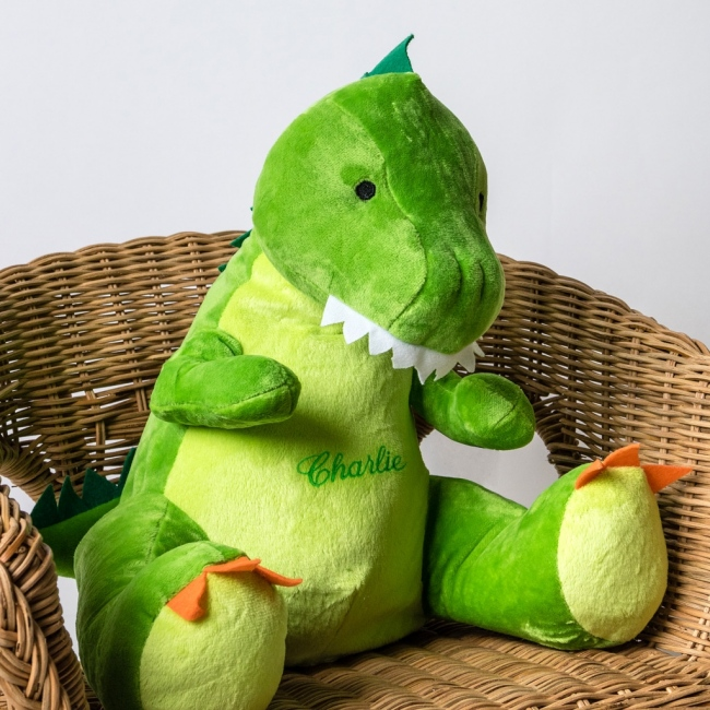 Personalised Soft Toy Dinosaur
