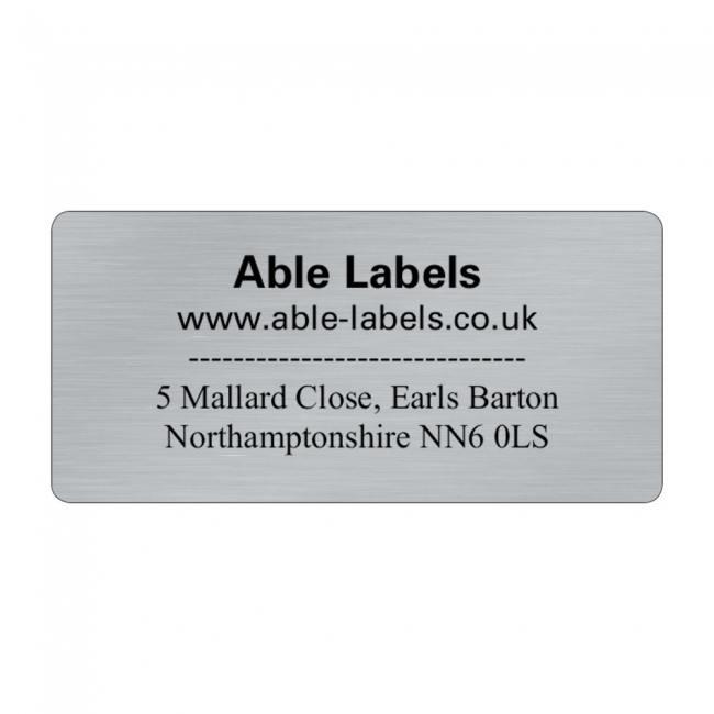 Design Your Own Cut Labels Silver