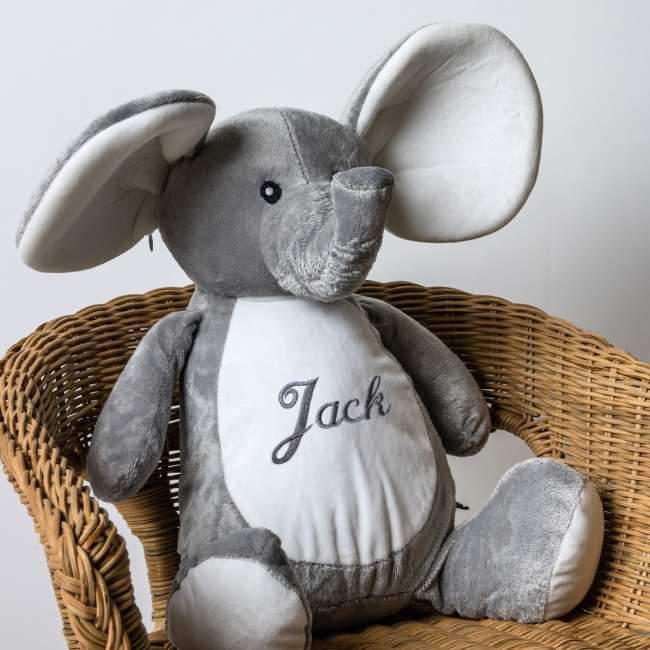 Personalised Soft Toy Elephant