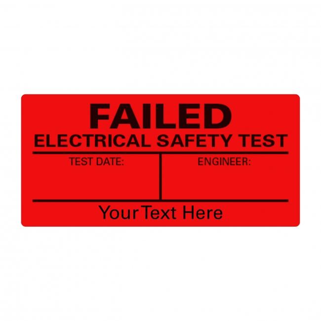 PAT Test Failed A4 Sheet Labels