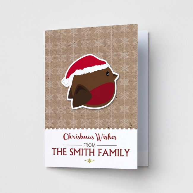 Premium Christmas Cards - Robin Design