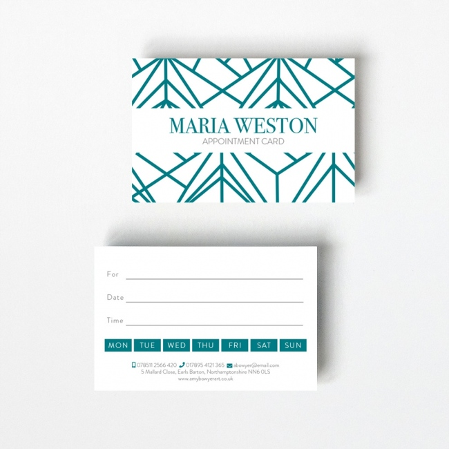 Geometric Appointment Card