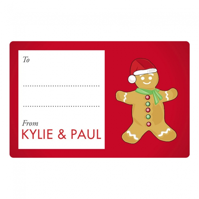 Gingerbread Man Gift Labels