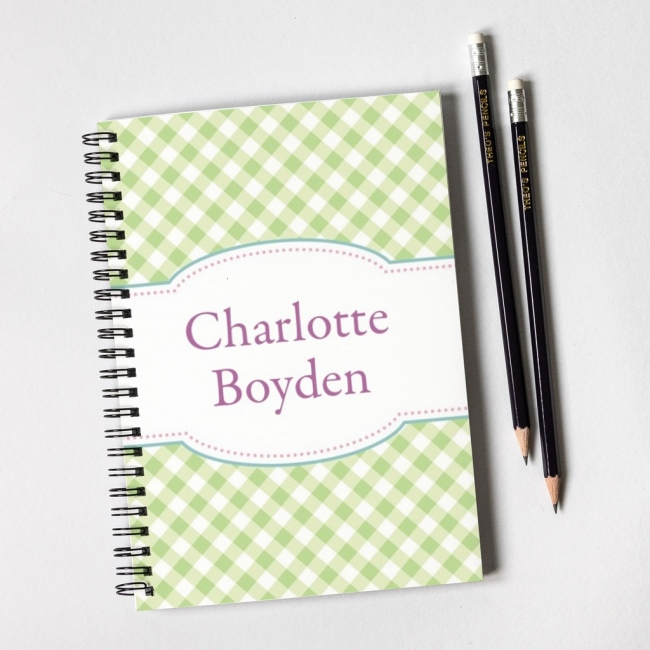 Gingham Notebook Gift Set