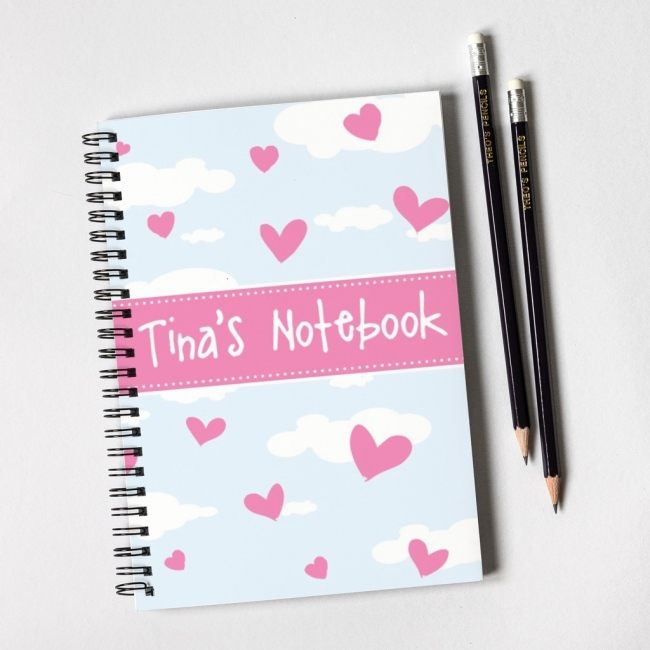 Heart Notebook & Pencil Gift Set