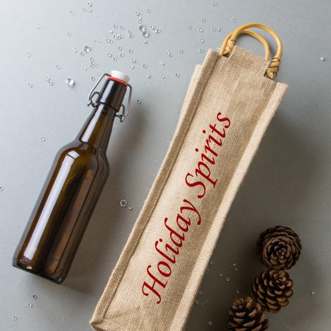 Christmas Bottle Bag - Holiday Spirits