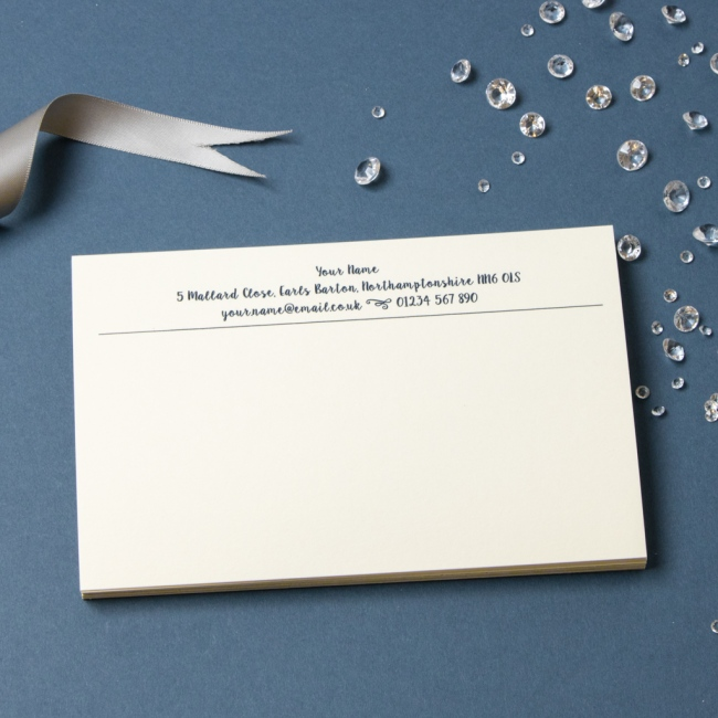 Luxury Correspondence Cards - Thermo Printed