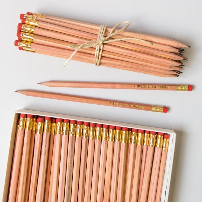 Large Natural Wood Pencil Pack