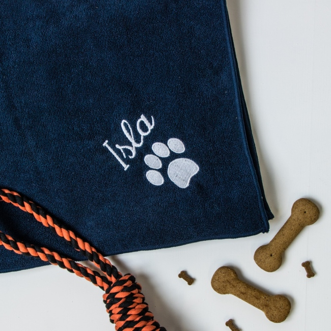 Personalised Microfibre Pet Towel