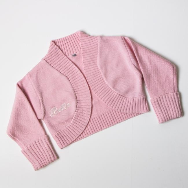 Luxury Merino Wool Bolero - Pink