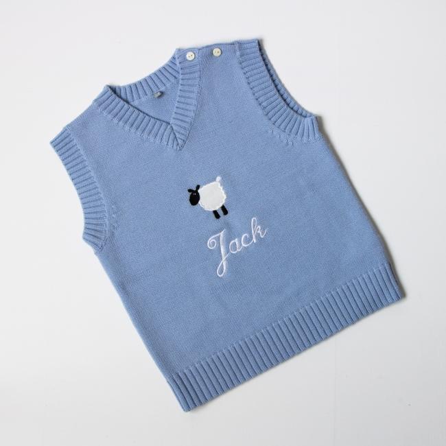 Luxury Merino Wool Tank Top - Light Blue