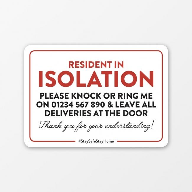 Self Isolating Window Sticker