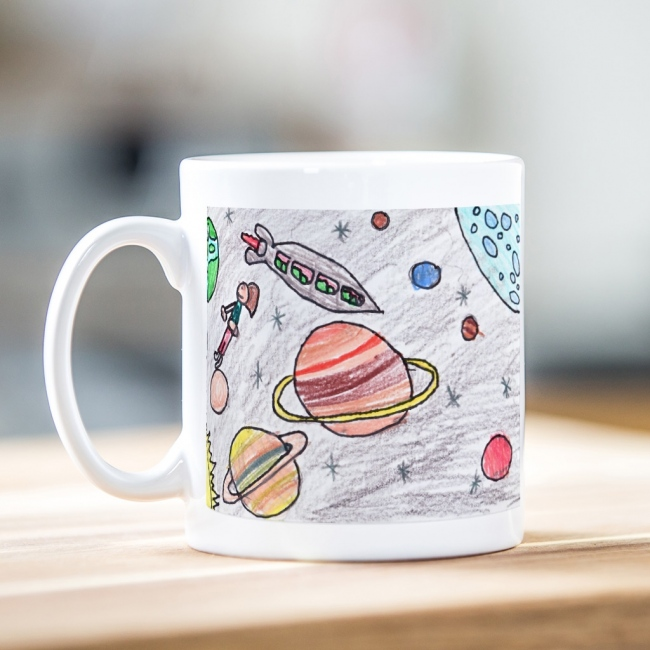 Child's Artwork Mug Panoramic