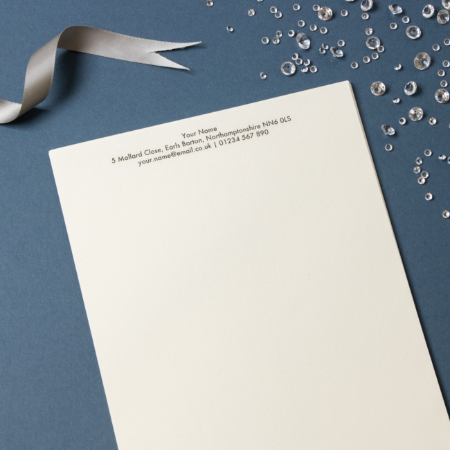 Luxury Headed Paper - Thermo Printed