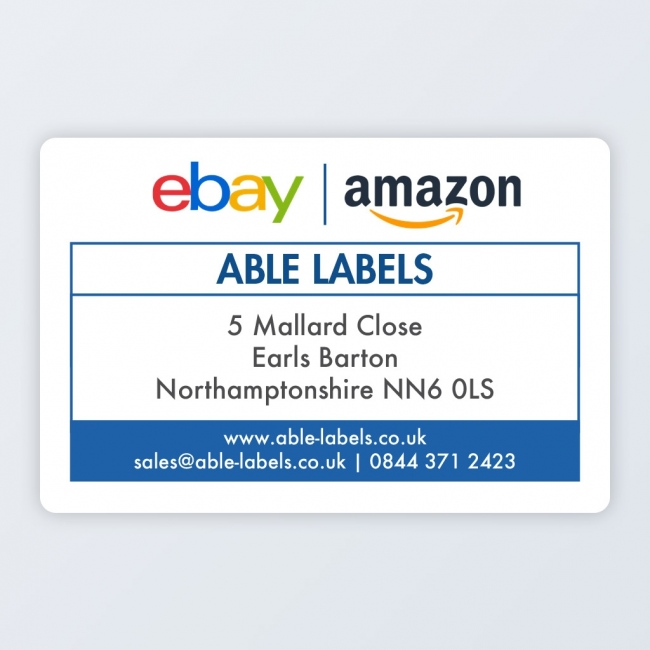 """Marketplace Sellers Return Roll Address Label 76x50mm (3""""x2"""")"""