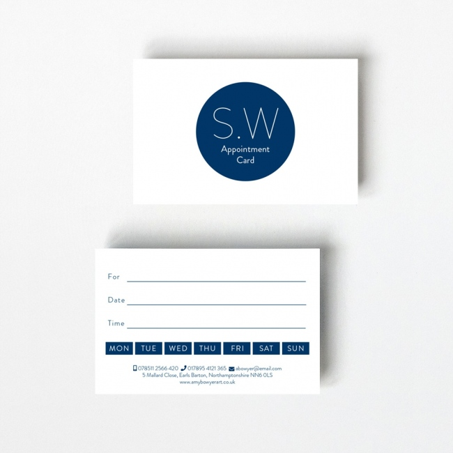 Monogram Appointment Card