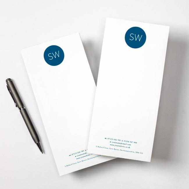 Monogram Tear Off Notepad