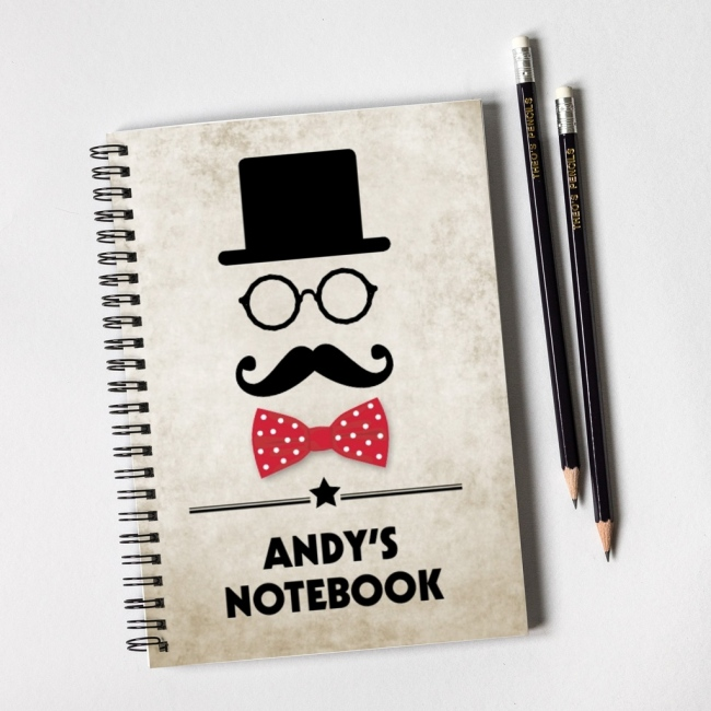 Moustache Notebook Gift Set