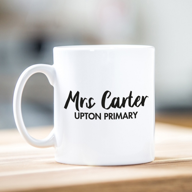 Personalised Teacher Gift Mug - Script