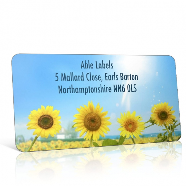 Pre Designed Sunflowers Earth Address Label on A4 Sheets