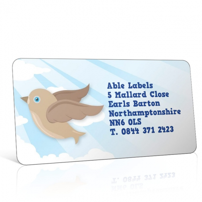 Pre Designed Character Bird Address Label on A4 Sheets