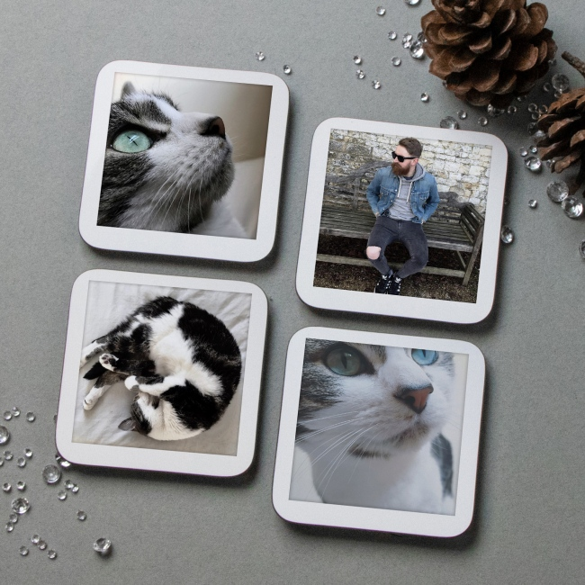 Retro Style Photo Coasters
