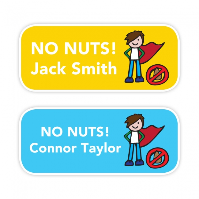 No Nuts - Allergy Labels - Style 3