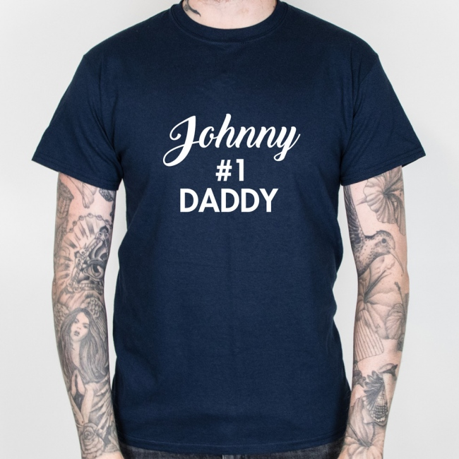 Hashtag No.1 Daddy Father's Day T-Shirt
