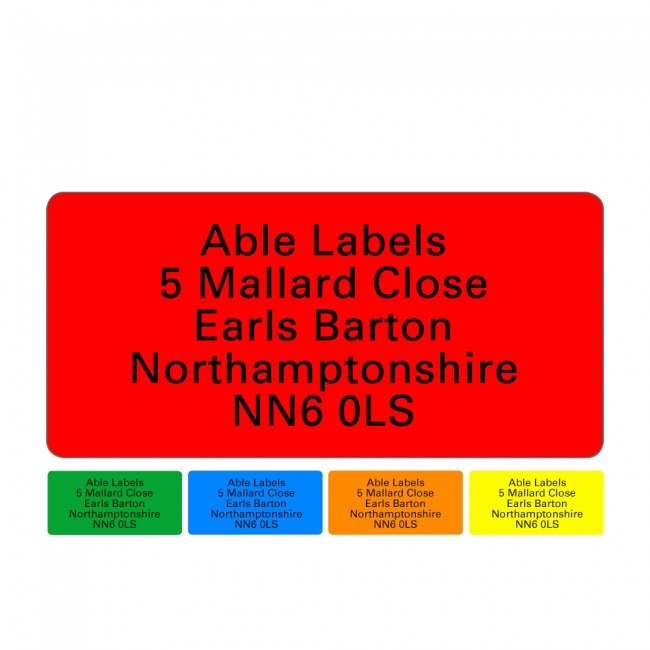 Original Labels Colour A4 Sheets
