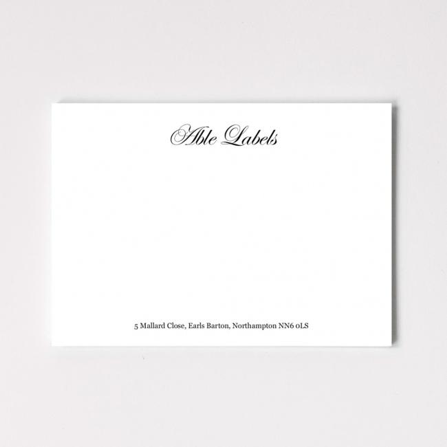Classic Script Correspondence Cards