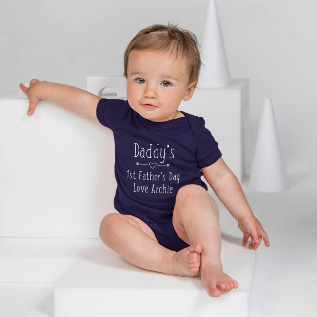 Personalised Father's Day Baby Grow - Heart & Arrows