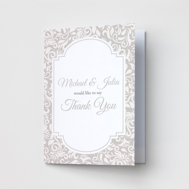 Ornate Pattern - Thank You Cards