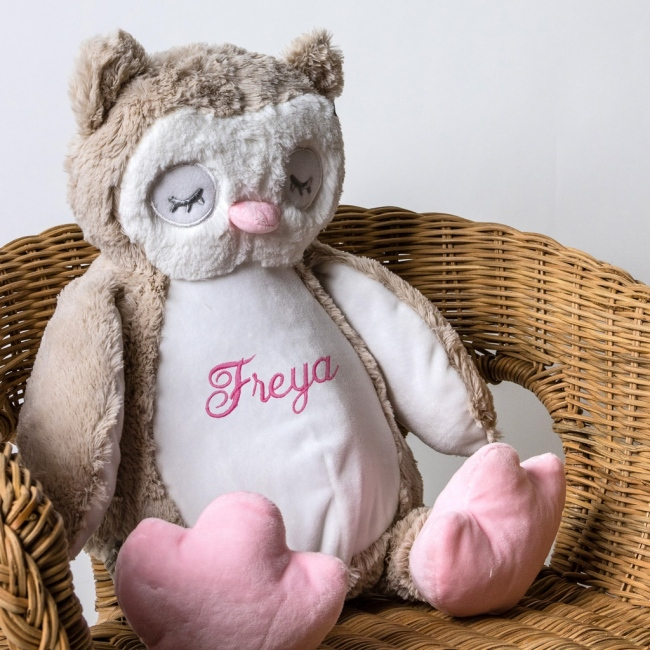 Personalised Soft Toy Owl