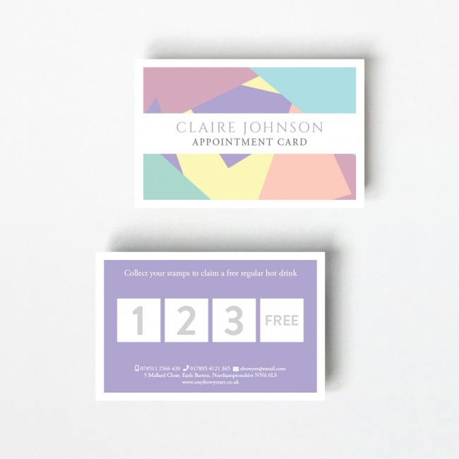 Pastel Loyalty Card - 4 Boxes