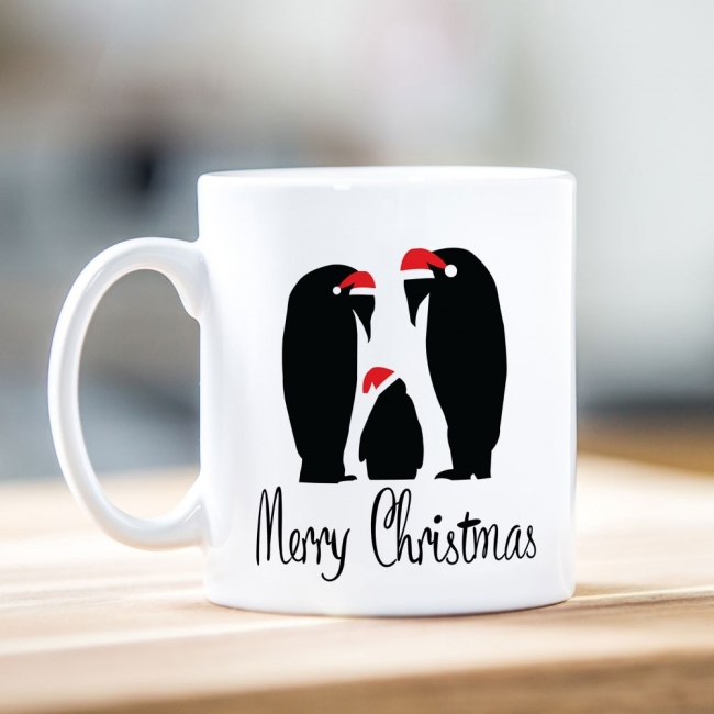 Family of Penguins Christmas Mug