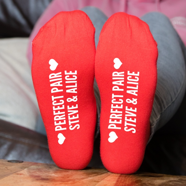 """Perfect Pair"" Personalised Socks"