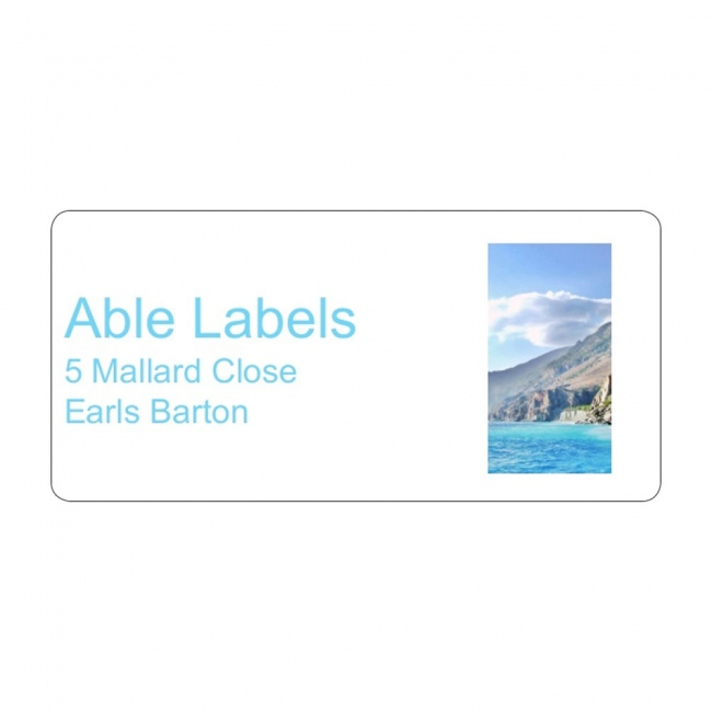 Photo Right & Text Address Label A4 Sheets