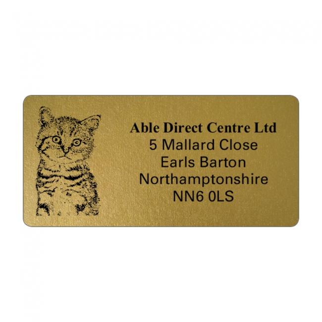 Gold Picture Cut Address Labels