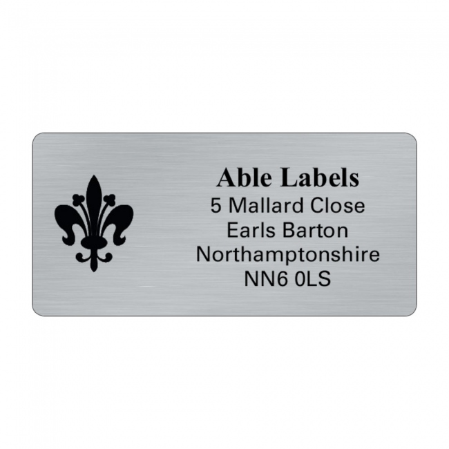 Silver Picture Cut Address Labels