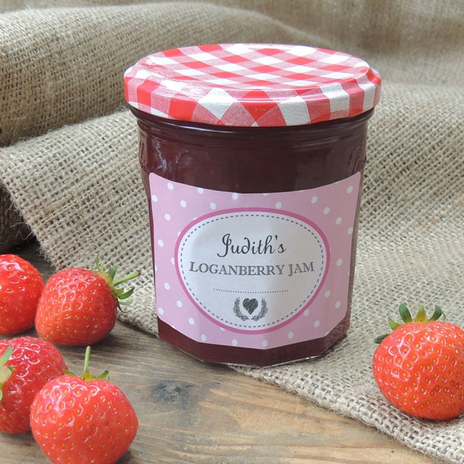 Spotty Pink - Jam Jar Labels