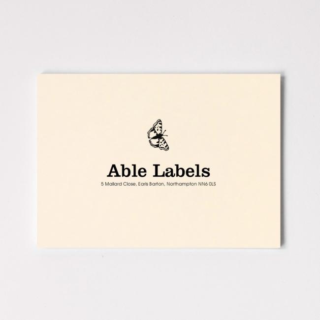 Centred Serif & Motif Premium Correspondence Cards