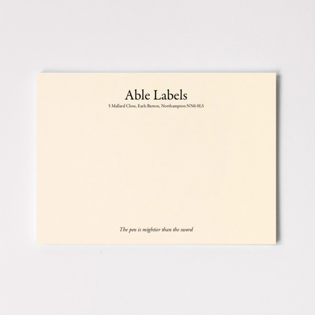 Traditional Serif Premium Correspondence Cards